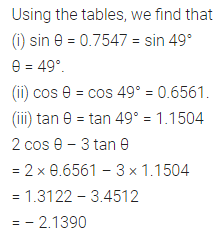 ML Aggarwal Class 10 Solutions for ICSE Maths Chapter 19 Trigonometric Tables Chapter Test Q5
