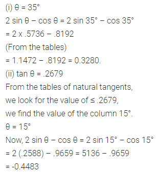 ML Aggarwal Class 10 Solutions for ICSE Maths Chapter 19 Trigonometric Tables Ex 19 Q8