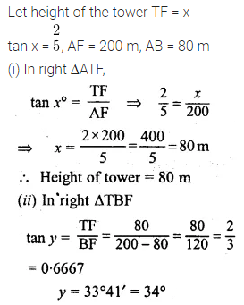 ML Aggarwal Class 10 Solutions for ICSE Maths Chapter 20 Heights and Distances Ex 20 Q22.1