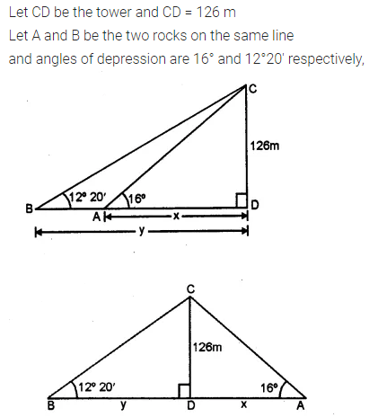 ML Aggarwal Class 10 Solutions for ICSE Maths Chapter 20 Heights and Distances Ex 20 Q30