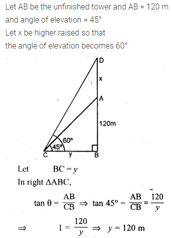 ML Aggarwal Class 10 Solutions for ICSE Maths Chapter 20 Heights and Distances Ex 20 Q36