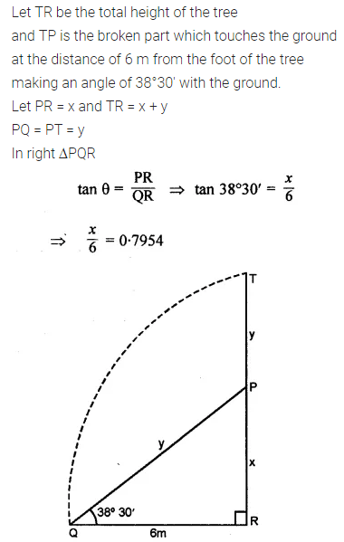 ML Aggarwal Class 10 Solutions for ICSE Maths Chapter 20 Heights and Distances Ex 20 Q12