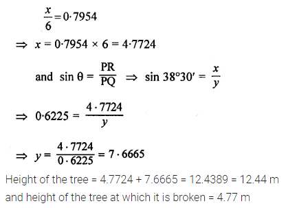 ML Aggarwal Class 10 Solutions for ICSE Maths Chapter 20 Heights and Distances Ex 20 Q12.1