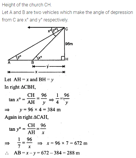 ML Aggarwal Class 10 Solutions for ICSE Maths Chapter 20 Heights and Distances Ex 20 Q23