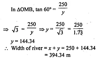 ML Aggarwal Class 10 Solutions for ICSE Maths Chapter 20 Heights and Distances Ex 20 Q29.2