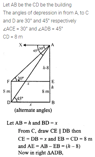 ML Aggarwal Class 10 Solutions for ICSE Maths Chapter 20 Heights and Distances Ex 20 Q32