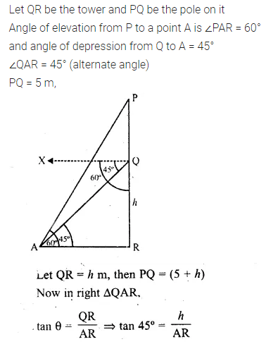 ML Aggarwal Class 10 Solutions for ICSE Maths Chapter 20 Heights and Distances Ex 20 Q33