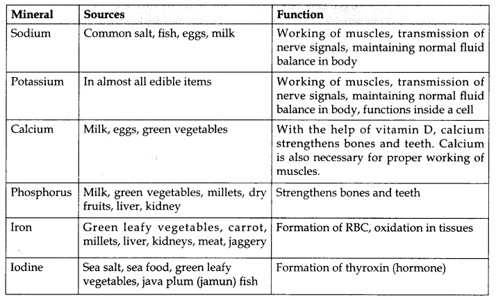 RBSE Class 10 Science Notes Chapter 1 Food and Human Health