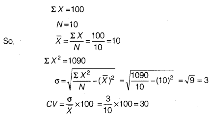 Statistics for Economics Class 11 NCERT Solutions Chapter 6 Measures of Dispersion 25