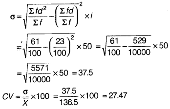 Statistics for Economics Class 11 NCERT Solutions Chapter 6 Measures of Dispersion 22