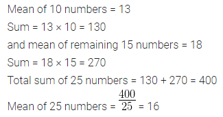 ML Aggarwal Class 10 Solutions for ICSE Maths Chapter 21 Measures of Central Tendency Ex 21.1 Q5