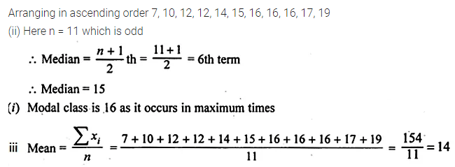 ML Aggarwal Class 10 Solutions for ICSE Maths Chapter 21 Measures of Central Tendency Ex 21.3 Q6