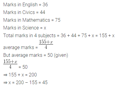 ML Aggarwal Class 10 Solutions Chapter 21 Measures of Central Tendency Chapter Test Q1