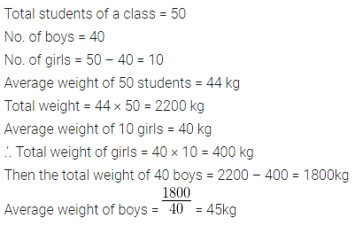 ML Aggarwal Class 10 Solutions for ICSE Maths Chapter 21 Measures of Central Tendency Chapter Test Q4