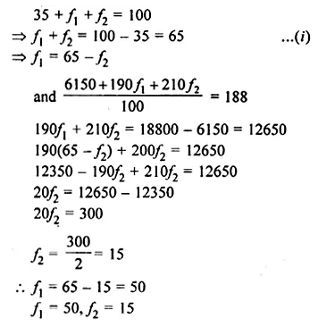 Understanding Mathematics Class 10 Solutions Chapter 21 Measures of Central Tendency Chapter Test Q12.2