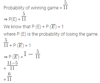 ML Aggarwal Class 10 Solutions Chapter 22 Probability Ex 22 Q5