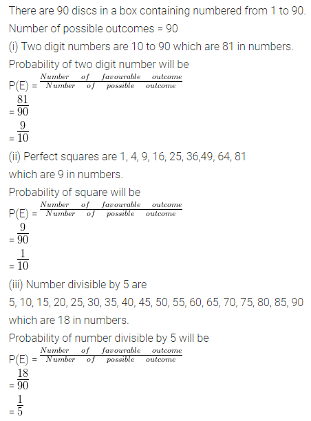 ML Aggarwal Class 10 Solutions for ICSE Maths Chapter 22 Probability Ex 22 Q30