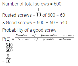 ML Aggarwal Class 10 Solutions Chapter 22 Probability Ex 22 Q2