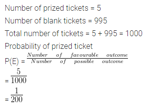 ML Aggarwal Class 10 Solutions for ICSE Maths Chapter 22 Probability Ex 22 Q3