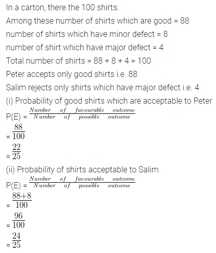 ML Aggarwal Class 10 Solutions for ICSE Maths Chapter 22 Probability Ex 22 Q15