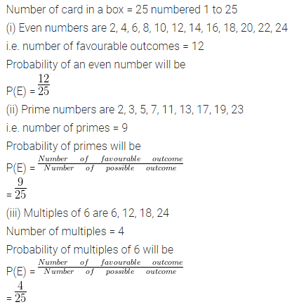ML Aggarwal Class 10 Solutions for ICSE Maths Chapter 22 Probability Ex 22 Q25