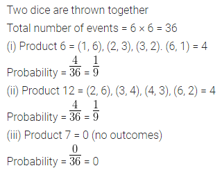 Understanding ICSE Mathematics Class 10 ML Aggarwal Solutions Chapter 22 Probability Chapter Test Q17