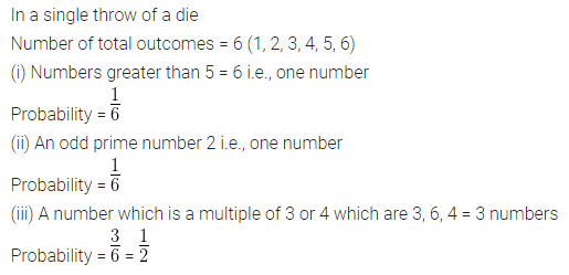 ML Aggarwal Class 10 Solutions Chapter 22 Probability Chapter Test Q2