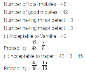 ML Aggarwal Class 10 Solutions for ICSE Maths Chapter 22 Probability Chapter Test Q4