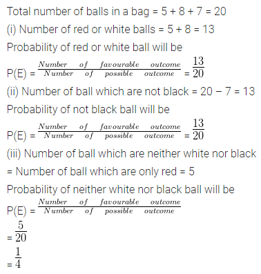 ML Aggarwal Class 10 Solutions for ICSE Maths Chapter 22 Probability Chapter Test Q6