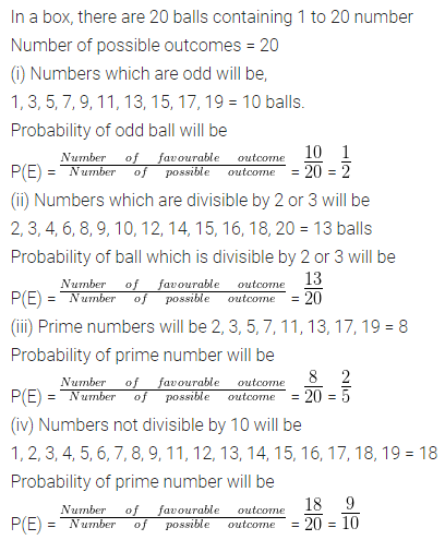 ML Aggarwal Class 10 Solutions for ICSE Maths Chapter 22 Probability Chapter Test Q8
