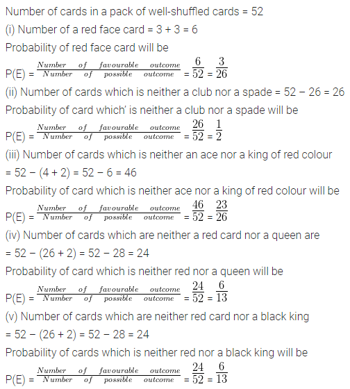 ML Aggarwal Class 10 Solutions for ICSE Maths Chapter 22 Probability Chapter Test Q14