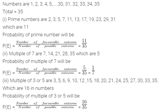 ML Aggarwal Class 10 Solutions for ICSE Maths Chapter 22 Probability Chapter Test Q9