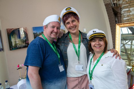 Saga Spirit of Discovery VIP Trade Event 2-4 July 2019 - Danny Parker-Osler, Julia Painter, Louise Poole, all Hays Travel