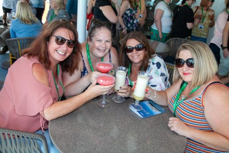 """Saga Spirit of Discovery VIP Trade Event 2-4 July 2019 - Michelle Kerr, Kerry James, Michele Strong, Annmarie Turner, all <a href=""""http://www.CRUISE.co.uk"""" rel=""""noreferrer nofollow"""">www.CRUISE.co.uk</a>"""