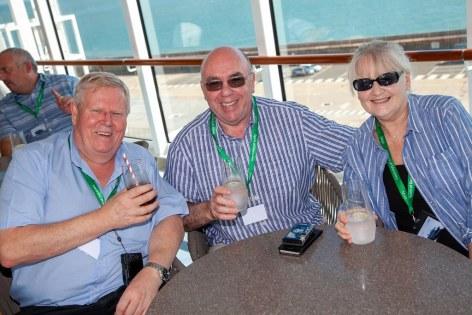 Saga Spirit of Discovery VIP Trade Event 2-4 July 2019 - Ian Warren, Peter & Susan Ruck, all GoCruise