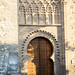fachada principal portada mudejar exterior Iglesia de Santiago el Mayor o de Santiago del Arrabal Toledo 02