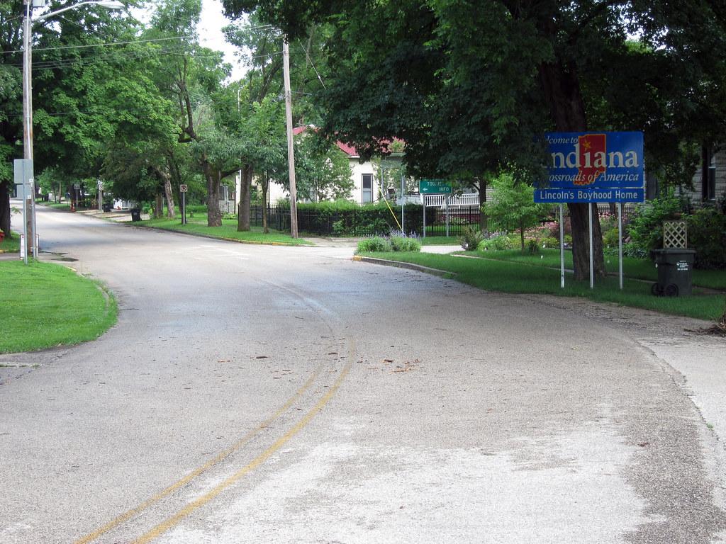 Indiana SR 66 eastbound