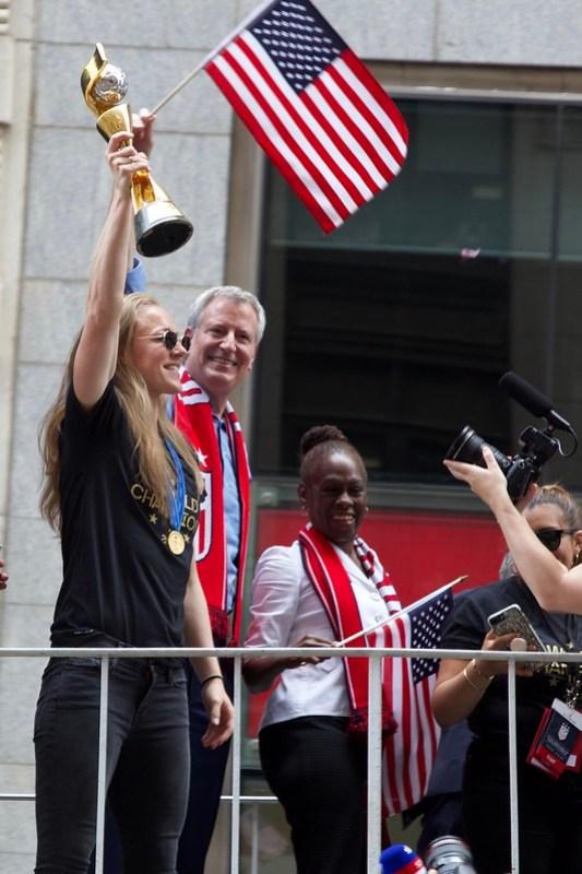 Ticker-Tape Parade for U.S. Women's National Soccer Team