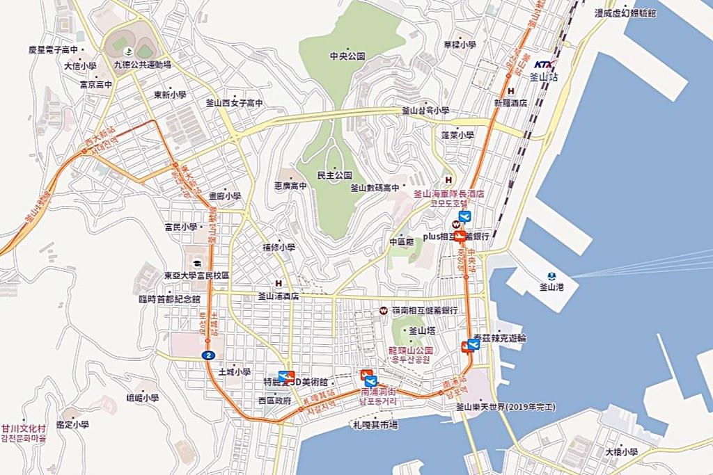 Busan Nampo Map