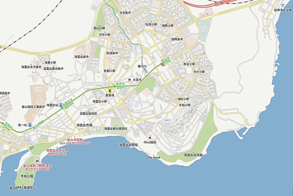 Busan Haeundae Map