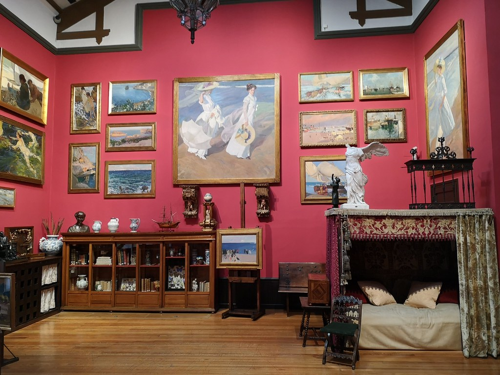 sofa sala de estudio interior casa Museo Sorolla Madrid 02