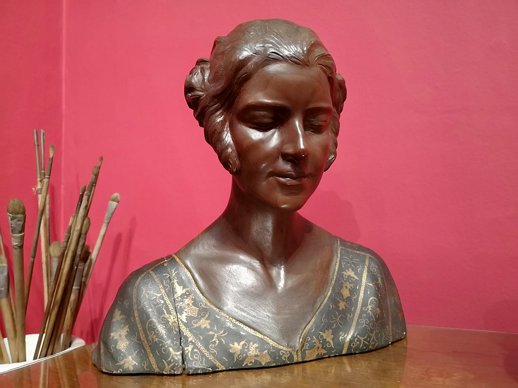 escultura busto de mujer Museo Sorolla Madrid