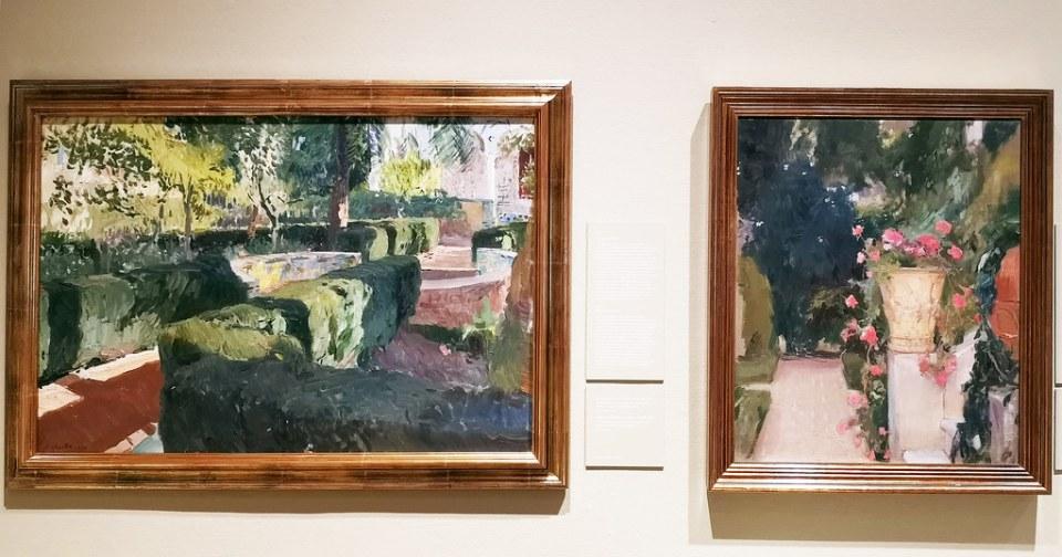 Jardin del Alcazar de Sevilla pintura Museo Sorolla Madrid 02