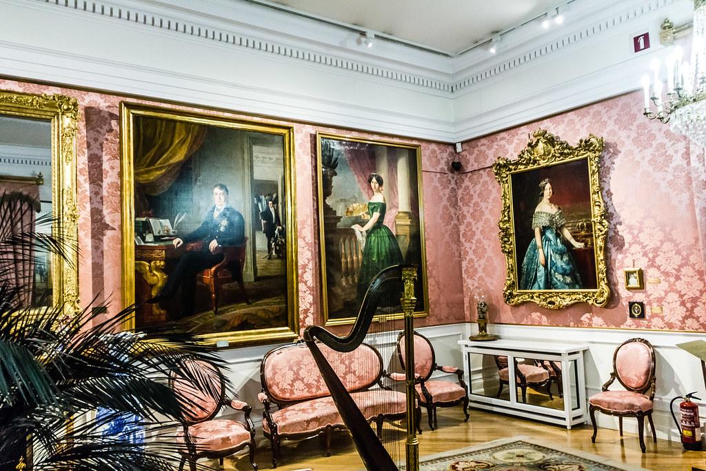 El salón de baile interior Museo del Romanticismo Madrid 03