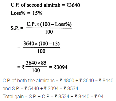 ML Aggarwal Class 7 Solutions for ICSE Maths Chapter 7 Percentage and Its Applications Ex 7.3 Q4.1