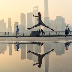 Leaping in Shanghai