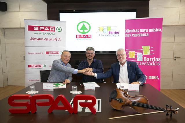 SPAR GRAN CANARIA VUELVE A RENOVAR SU COMPROMISO CON 'BARRIOS ORQUESTADOS'