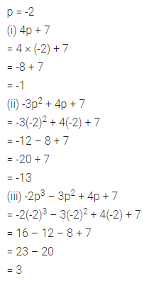 ML Aggarwal Class 7 Solutions for ICSE Maths Chapter 8 Algebraic Expressions Ex 8.3 Q2