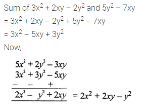 ML Aggarwal Class 7 Solutions for ICSE Maths Chapter 8 Algebraic Expressions Check Your Progress Q8
