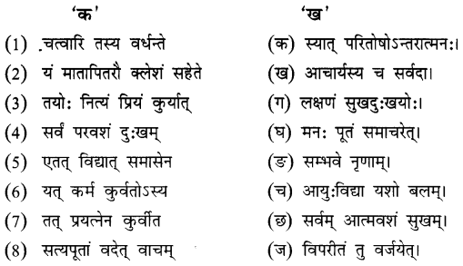 NCERT Solutions for Class 8 Sanskrit Chapter 10 नीतिनवनीतम् 1